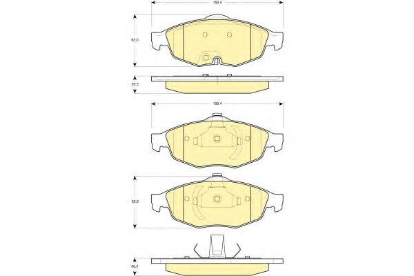 6141252 Колодки тормозные CHRYSLER SEBRING 2.0-2.7 01- /VOLGA SIBER 08- передние
