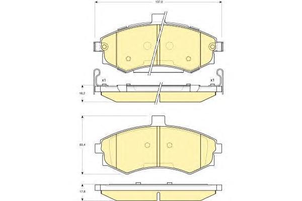 6133789 Колодки тормозные HYUNDAI ELANTRA/MATRIX 1.5-2.0 00- передние