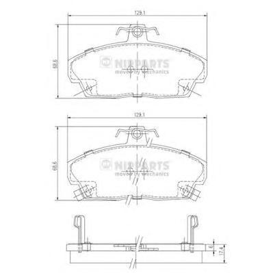 J3604031 Колодки тормозные HONDA CIVIC 1.4-1.8 94-05 передние