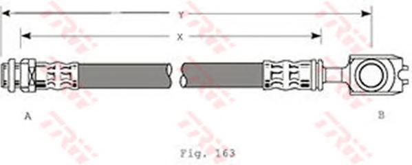 PHD349 Шланг тормозной AUDI A3/SKODA OCTAVIA/VW BORA/GOLF IV передний