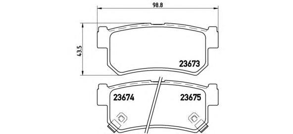 P15010 Колодки тормозные SSANGYONG REXTON 02/KYRON 05/ACTYON 05 задние