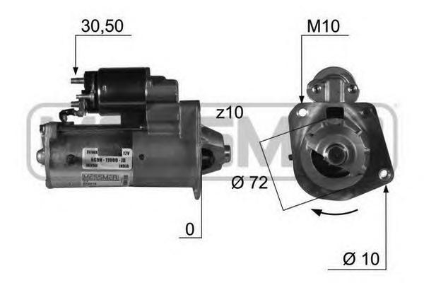 220418 Стартер FORD/VOLVO 2.5 1.4 кВт