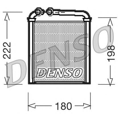 DRR32005 Радиатор отопителя VW PASSAT 1.4-3.6 05-