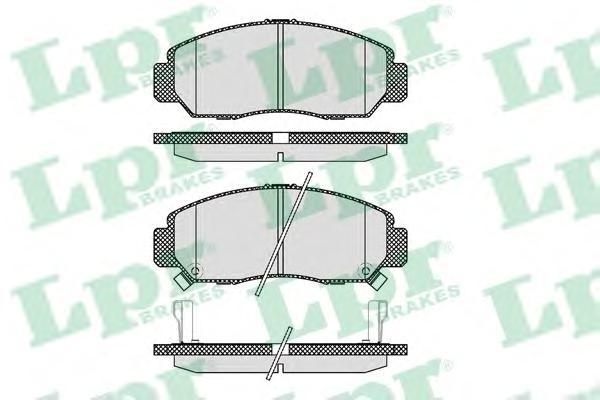05P1071 Колодки тормозные HONDA CIVIC 01-05/FR-V 1.7-2.2 05-/STREAM 1.7/2.0 01- передние