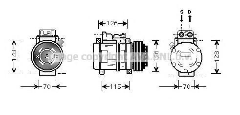 MSK087 Компрессор кондиционера MERCEDES SPRINTER (95-06)