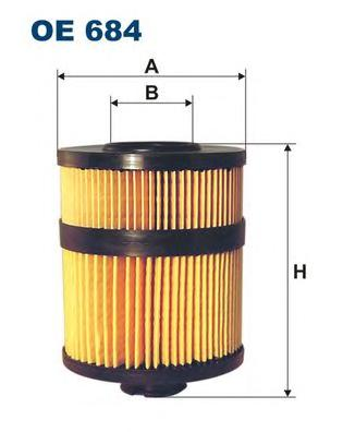 OE684 Фильтр масляный OPEL VECTRA C 3.0 D 01-