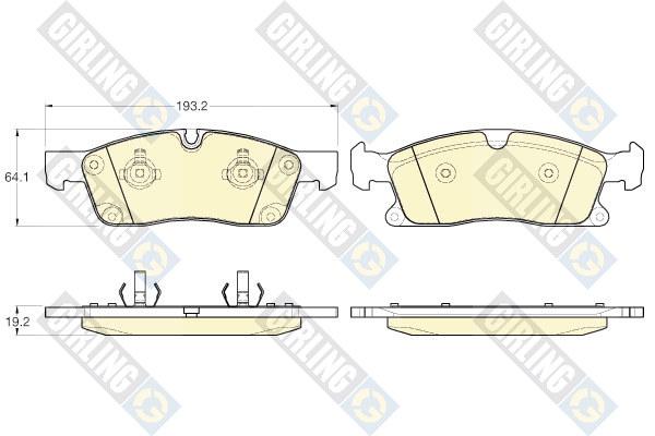 6119552 Колодки тормозные MERCEDES-BENZ ML W166 250-350 11- передние