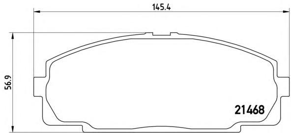 P83092 К-т торм. колодок Fr TO Dyna 01-, Hiace