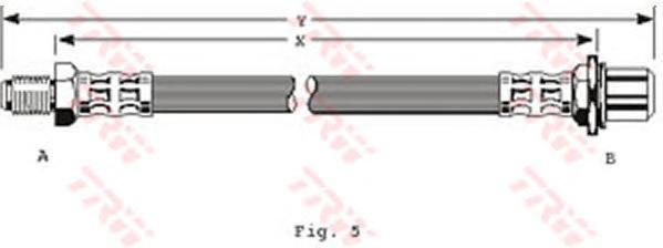 PHB251 Шланг тормозной BMW: 3 E36 1.6/1.8/2.0/2.5D 90-98, 1.8D/2.3/2.8 94-98, 2.5 90-94