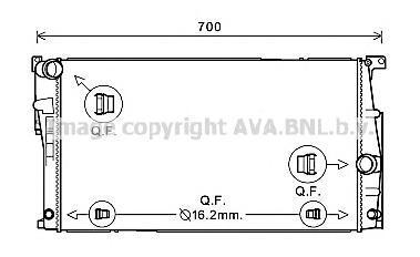 bw2447 Радиатор системы охлаждения BMW: 3-series 2.0 11.11-
