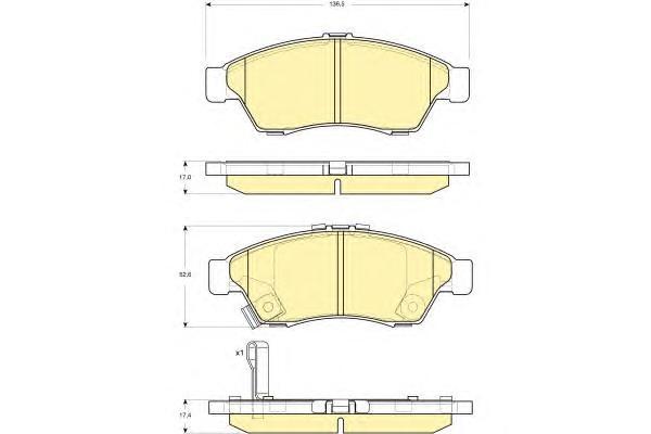 6132909 Колодки тормозные SUZUKI LIANA 02 передние