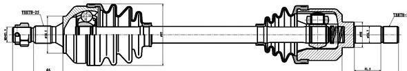210227 Привод в сборе CITROEN BERLINGO 1.8-1.9D 96- лев. +ABS