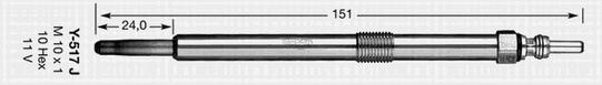 91766 Свеча накала D-Power 66 Y-517J