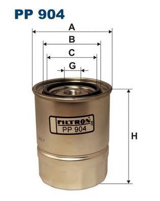 PP904 Фильтр топливный NISSAN PATROL 3.2D/3.2TD 83-90