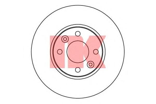 203992 Диск тормозной RENAULT KANGOO 08- передний вент.D=258мм.