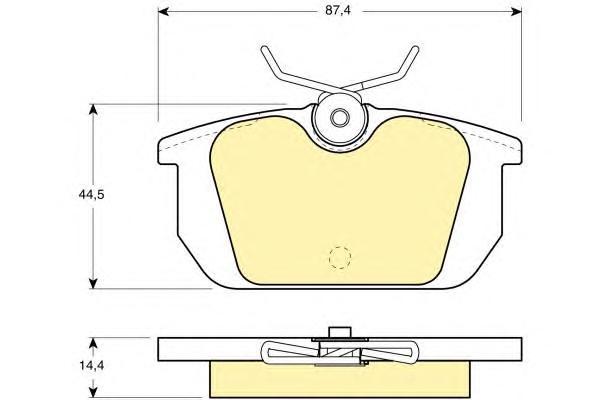 6104661 Колодки тормозные ALFA ROMEO 145/146/155/33/FIAT MAREA/TEMPRA/UNO задние