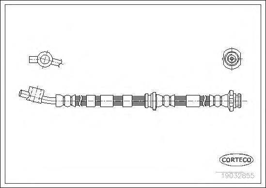 19032855 Шланг торм. Fr L Nissan Primera(P11) 440мм