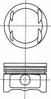 8728750730 Поршень MB S(W140)/E(W124)/G(W463) M104 0.5mm(комплект)