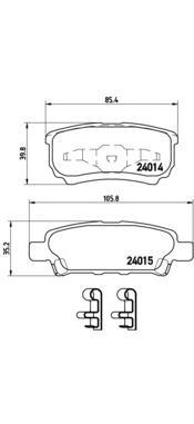 P54034 Колодки тормозные MITSUBISHI LANCER IX 03OUTLANDER 0308 задние