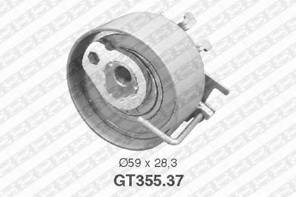 GT35537 Деталь GT355.37_pолик натяжной pемня ГPМ