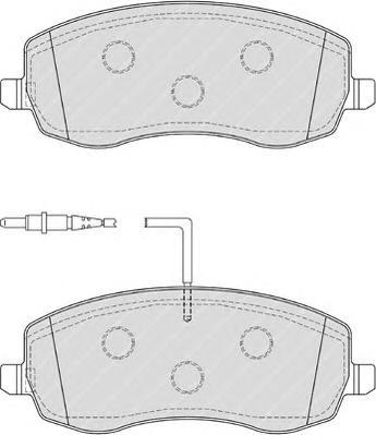 fdb4154 Комплект тормозных колодок, дисковый тормоз