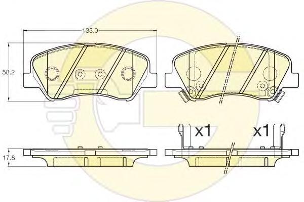 6135485 Колодки тормозные HYUNDAI SOLARIS 10-/KIA RIO 11- передние