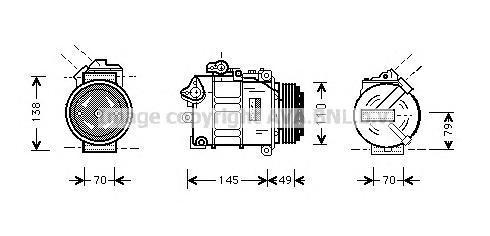 BWAK017 Компрессор кондиционера BMW: 5 (E39) 520 I 95-03, 5 TOURING (E39) 520 I 97-04