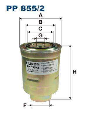 PP8552 Фильтр топливный TOYOTA LAND CRUISER 70/80 2.4D-4.2D/MAZDA B-SERIE 2.0D-2.5D
