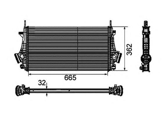 30796 Интеркулер OP Insignia, SAAB 9-5