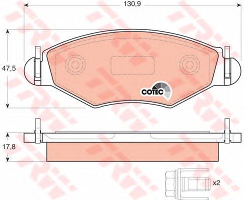 GDB1500 Колодки тормозные PEUGEOT 206/206SW 01(-ABS) передние