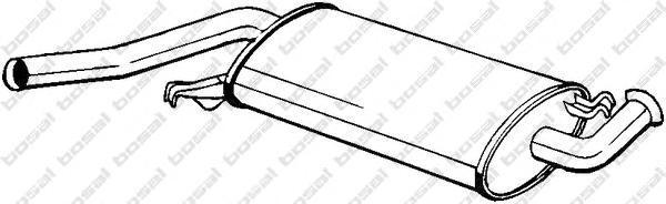 105215 Резонатор AUDI А6 1.8 95-97