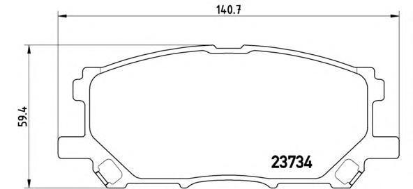 P83067 Колодки тормозные LEXUS RX300/RX330/RX350 0308/RX400H 0509 передние