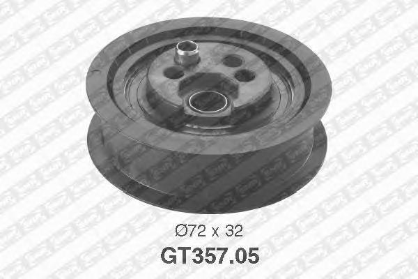 GT35705 Деталь GT357.05_pолик натяжной pемня ГPМ