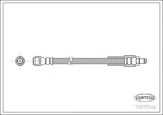 19035288 Шланг торм. Re 350мм MB Viano(W639) 03-