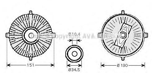 MSC420 Вискомуфта MB W124 4.2-5.0 M119 91-