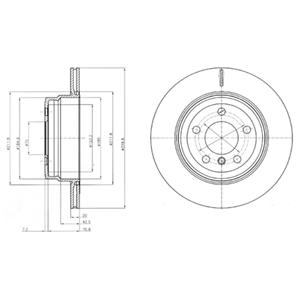BG4168 Диск тормозной BMW X5 E70 3.0/X6 E71 3.0 задний