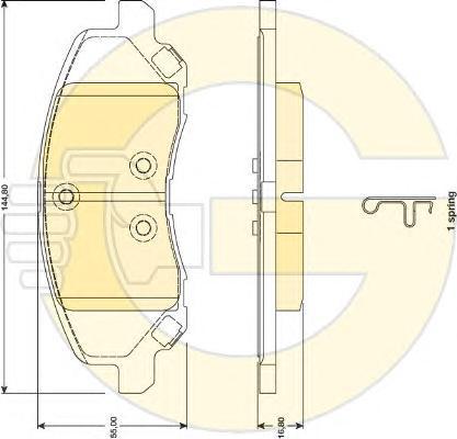 """6141419 Колодки тормозные DODGE CALIBER R15""""/JEEP COMPASS 1.8-2.4 06-передние"""