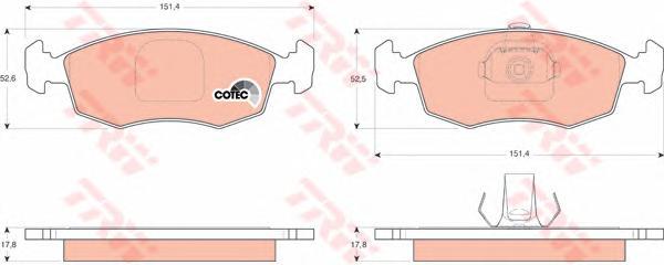 GDB1443 Колодки тормозные дисковые передн FIAT: DOBLO 01-, DOBLO Cargo 01-, PALIO Weekend 01-
