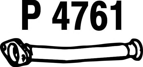 P4761 Труба соединительная PEUGEOT 206 1.1-1.6 98-01