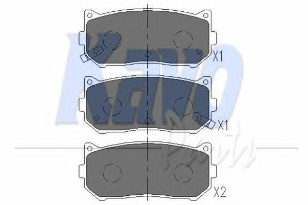 KBP4001 Колодки тормозные KIA SPECTRA/CARENS 00-/CLARUS 96-01/SHUMA 95- задние