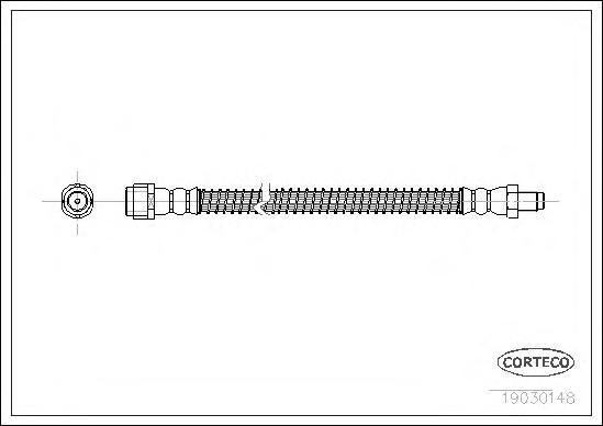 19030148 Шланг торм. Re 255 мм MB E(W211), S(W220)