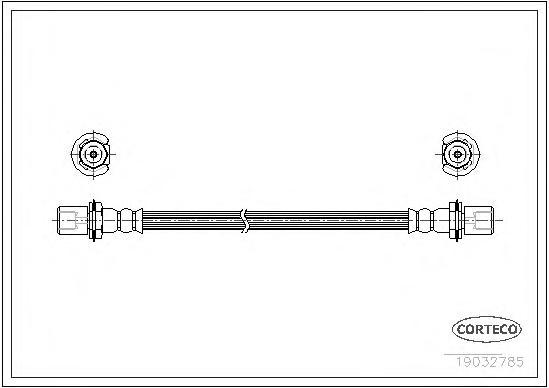 19032785 Шланг тормозной Fr 335 mm Toyota 87-95
