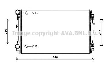VW2338 Радиатор VAG A3/G7/OCTAVIA 1.2T-1.4T/1.6TD-2.0TD 12-