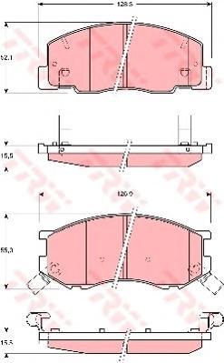 GDB3157 Колодки тормозные TOYOTA PREVIA 2.4 96-00 передние