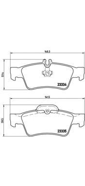 P50052 Колодки тормозные MERCEDES-BENZ W211/W212/W220/W221/R230 задние
