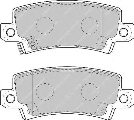 FDB1574 Колодки тормозные TOYOTA COROLLA (E12) 0206 с датчиком задние