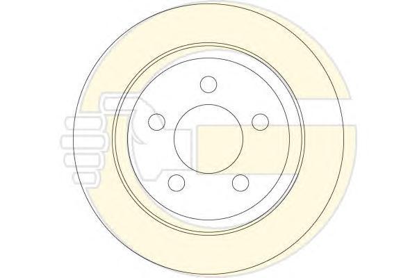 6063864 Диск тормозной JEEP CHEROKEE 01-08/WRANGLER 96-07 задний D=320мм.