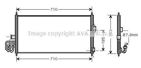 DN5201 Радиатор кондиционера NISSAN: ALMERA II (N16) 1.5/1.8/2.2 Di 00 - , ALMERA II Hatchback (N16) 1.5/1.5 dCi/1.8/2.2 Di/2.2