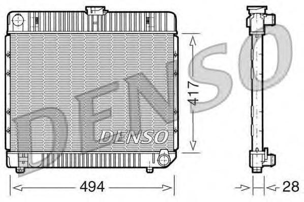 DRM17020 Радиатор системы охлаждения MERCEDES-BENZ: COUPE (C123) 230 C (123.043)/230 CE (123.243)/280 C (123.050)/280 CE/300 C T