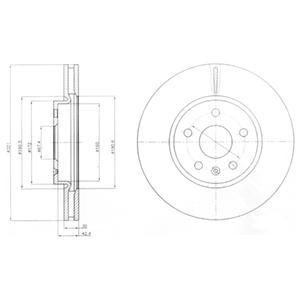 """BG4189 Диск тормозной OPEL INSIGNIA 08-/SAAB 9-5 10- R17"""" передний вент.D=321мм."""
